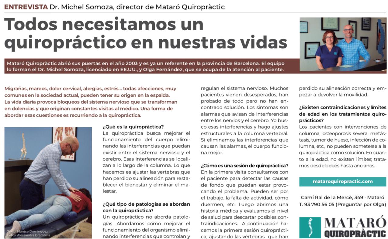 Entrevista del Quiropractico Michel Somoza
